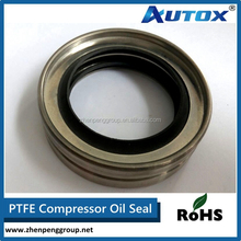 Single Lip Air Compressor Shaft PTFE Stainless steel Oil Seal For Sale