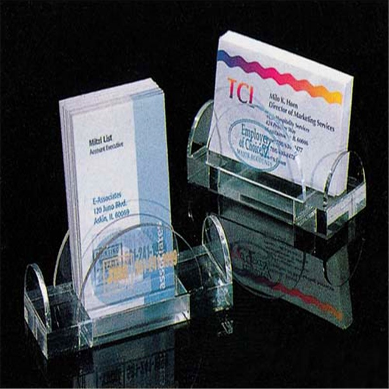 Acrylic portable brochure holder single tiered