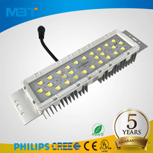 high brightness smd 5050 chips ETL 40W 50W 60W led module parts with street light lens for outdoor lighting