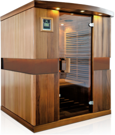 SS-400P 4 Person Low EMF Carbon Heater Far Infrared Sauna Room USA Standard