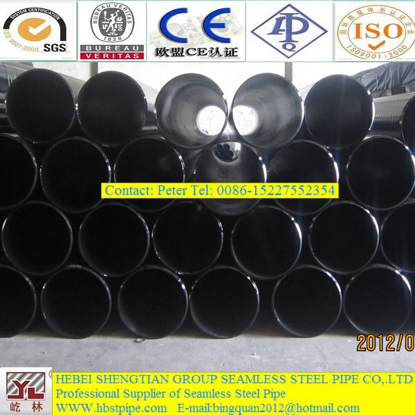 shengtian group 16 inch black seamless steel pipe suppliers