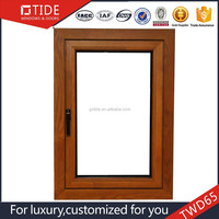 Wholesale windows and doors/picture aluminum wood single panel window