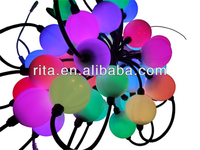 360 degree 40pcs 50mm WS2811 full color milky ball;waterproof,DC12V input;1.44W;double side with 3pcs 5050 leds each side