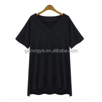 shirts for women blouses black short sleeve shirt ladies fashion V neck clothing tops for women