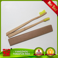 FDA approved bamboo child disposable mini toothbrush for hotels