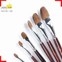 Wholesale Fine Professional Weasel Hair Art Paint Brush,Cheap Mixed with Pony Hair Art PaintBrush set For Kids