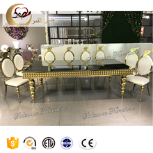alibaba rectangular mirror glass top wedding dining table