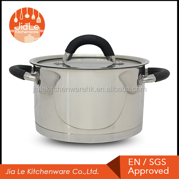 3 ply heat induction stainless steel casserole with tempered glass lid