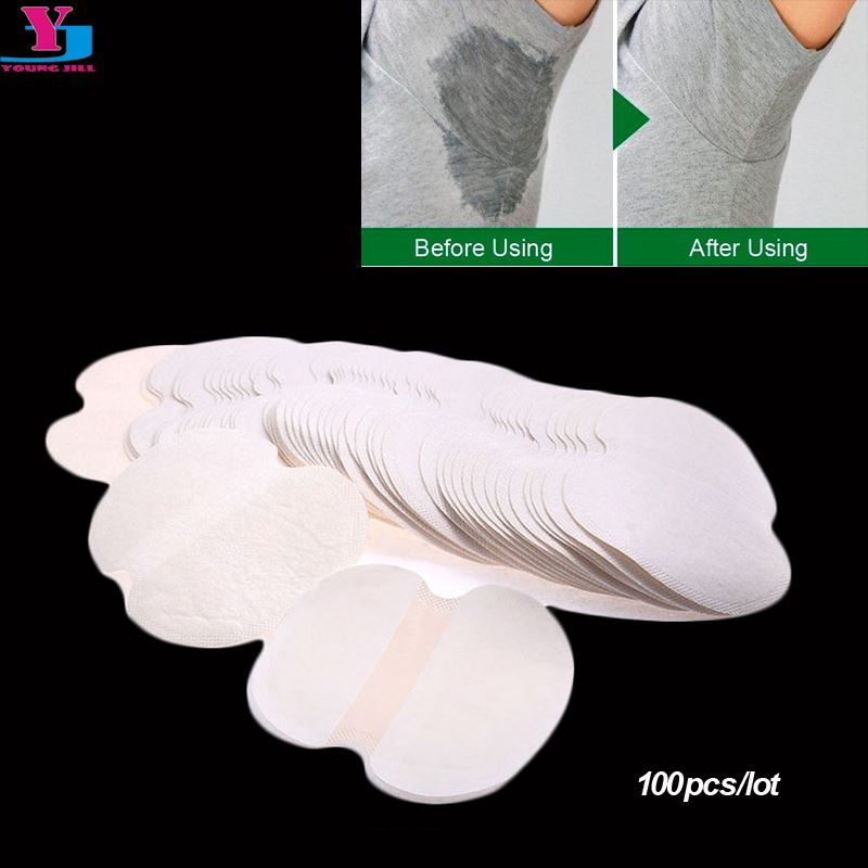100Pcs ( 50pairs ) Armpit Sweat Pads Summer Disposable Underarm Absorbing Anti Perspiration Deodorant Unisex Shield Wholesale