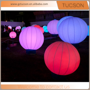 giant helium balloon with led/ inflatable led balloon in hot sale