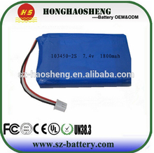 1800mah lithium-ion battery pack bluetooth lipo battery supplier with high power