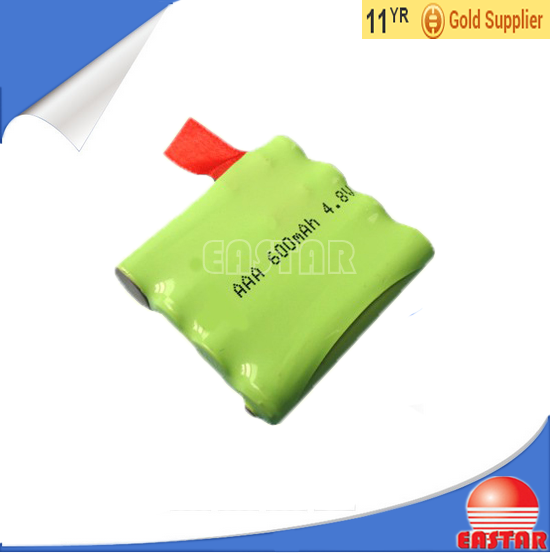 high quality 4.8v 600mah ni-mh aaa battery pack