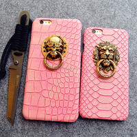 Cell Phone Protector Case phone cover case Lion snake pu case for iPhone 5s/6/6 Plus