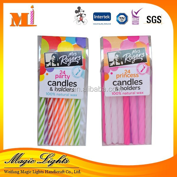 Good Quality Decoration Professional Spiral Taper Birthday Candle