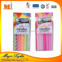 Good Quality Decoration Spiral Taper Birthday Candle
