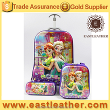 SB033 high quality school bags lovely 5D 3 in 1 kids trolley school bag