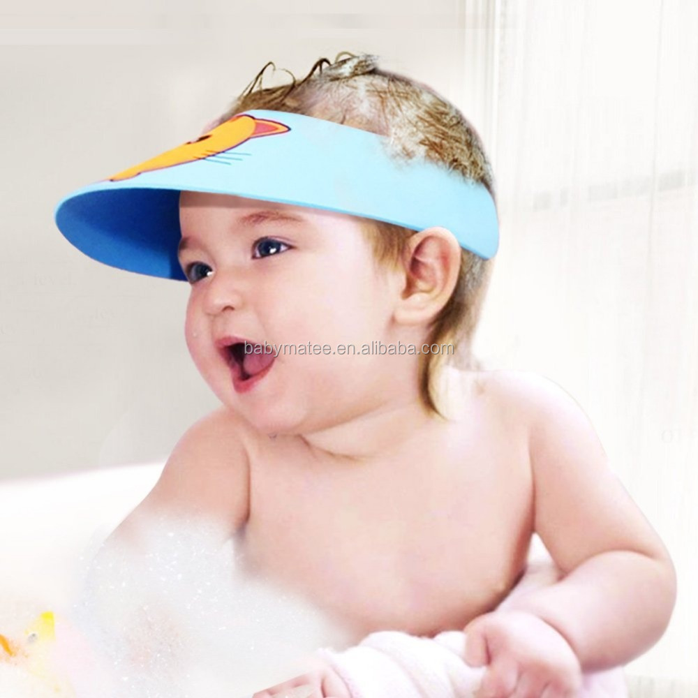 Glacier cap baby bath safety products/Baby's Hair Wash Hat/Shampoo Shower Cap