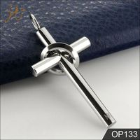 Hot On Sale Stainless Steel Cross Pendant with Ring