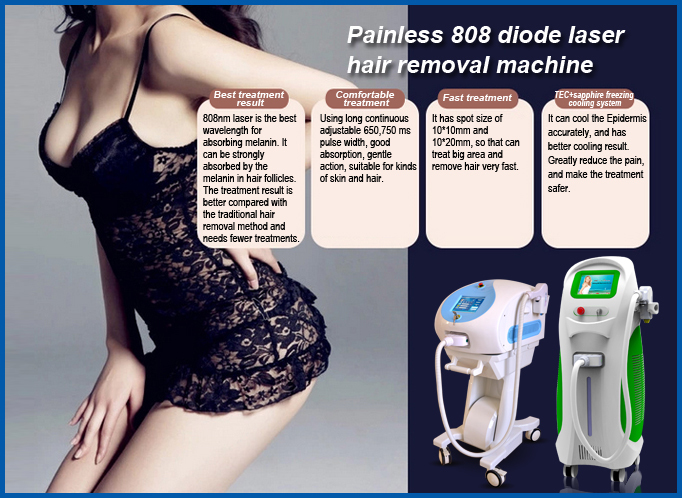 Professional 808nm diode laser hair removal/alexandrite laser hair removal machine price