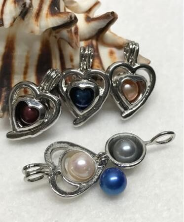 Hollow Silver Plated Cancer Crab Zodiac pearl Bead Cage pendant - Add your own Pearls, Stones, Rock to Cage...