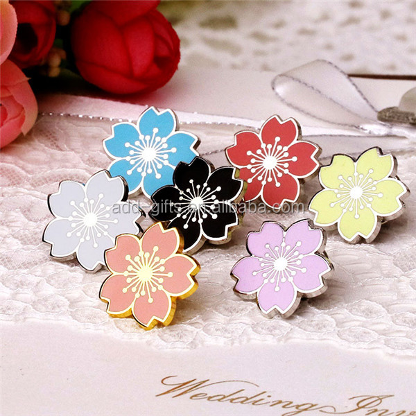 hard enamel flower pin, flower hijab pin, flower pins for dresses