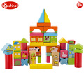 Onshine Happy farm building blocks 52pcs children educational toy wooden blocks for kids