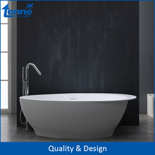 Tenne Solid Surface Free Standing Acrylic Modern Whirlpool Bathtub With Shower