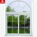 South American style Vinyl Sash window, PVC slide arch window with grid