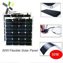 China manufacturer flexible solar panel use for boat car 12v 50w flexible solar panel