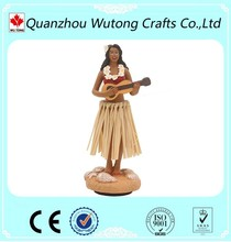 Custom Wobbler Resin Figure Hawaii Mascot Hula Girl Figurine