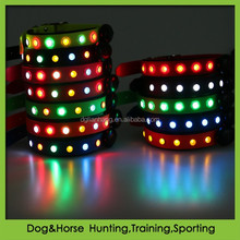 High quality flashing waterproof LED dog collar for pet dog cat products