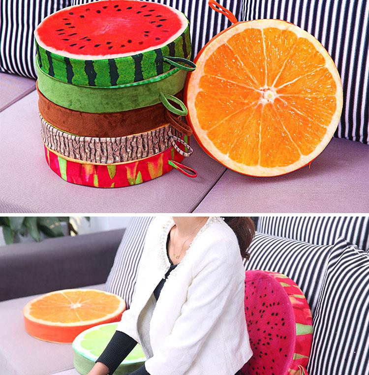 creative fruit rond forme coussin oreiller de haute qualit coton bonne lasticit r tention de. Black Bedroom Furniture Sets. Home Design Ideas