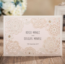 fancy glitter wedding invitations with floral pattern paper crafts wedding invitation card supplies
