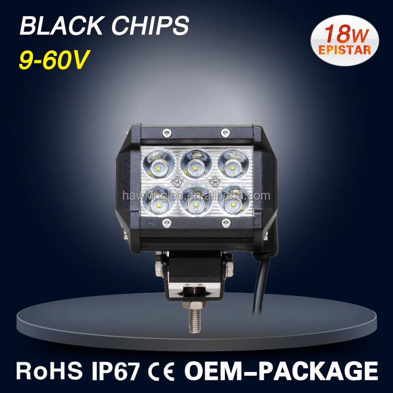 3.9 inch 18w double row led light bar for offroad,suv,cars.
