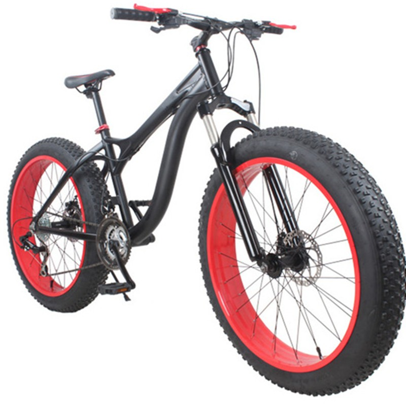 "21/24/27/30 Speeds 26""X 4.0 Tyre Aluminum Alloy Frame Fat sand Snow Bike"