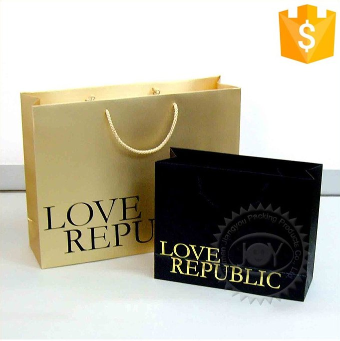 Custom Printed Recyclable Laminated Clothing Paper Packagings Bags
