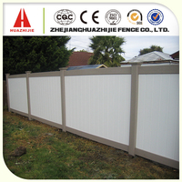 cheap pvc wooden fence panels for wholesale