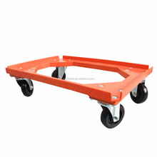 4 Wheels Rolling Strong Plastic Floor Plaftom Trolley