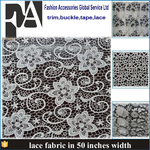 Top one china african lace 100%polyester different types of fabric New design embroidery lace