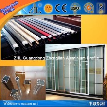 OEM aluminum glass window assembly / polished aluminum flat bar / parts for wardrobe sliding door FACTORY