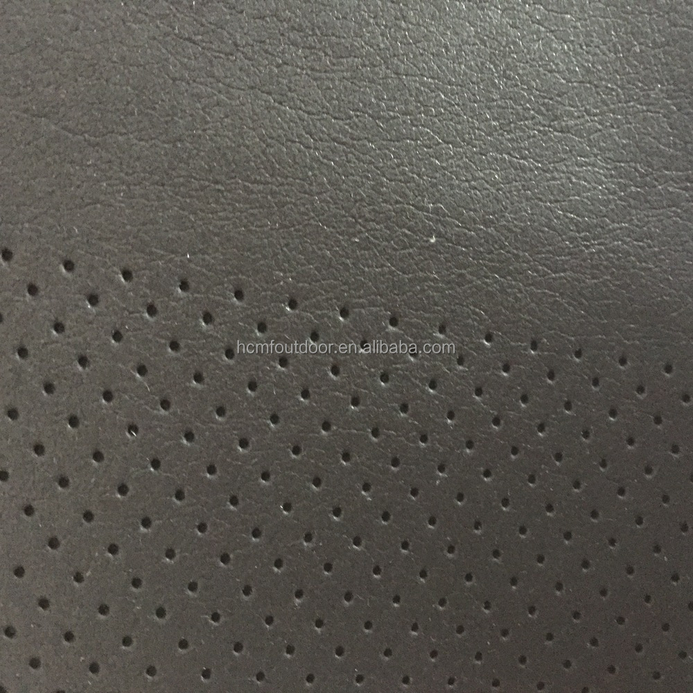 0.75 mm pu leather microfiber on steam perforated shoes lining leather and insoles