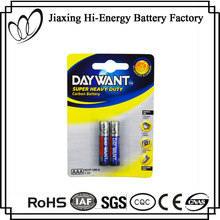 Environment Friendly Carbon Zinc R03 UM-4 Size AAA 1.5V Battery