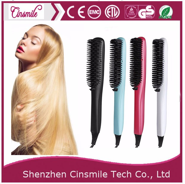 new style 2017 professional electric straightening hair brush comb with ionic massage fuction