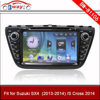 Bway car audio player for Suzuki SX4 S Cross 2013-2014 car dvd 256 MB RAM with GPS,Radio,bluetooth,USB/SD slot,steering wheel