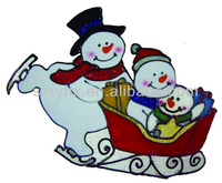 2015 new christmas gift ideas cute 3d pvc window sticker for X'mas decoration