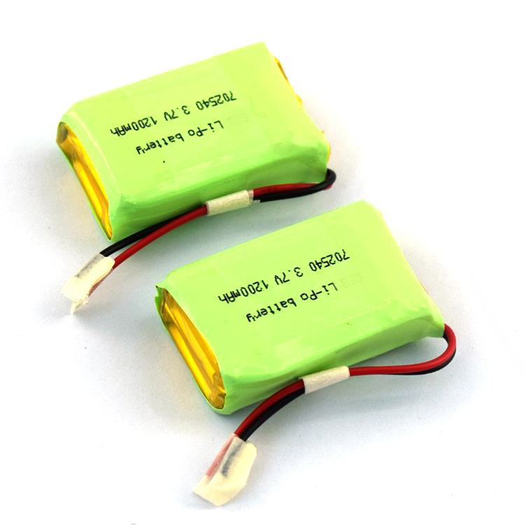 1S2P 702540 3.7v 1200mah rechargeable lipo battery, small size with high capacity 1200mah 3.7v li-polymer battery