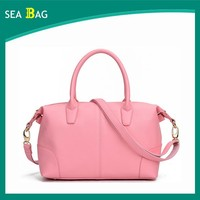 2016 Fashion Big Ladies bag Wholesale Lichee Leather Tote Shoulder Bag With a long Straps
