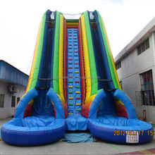 Best quality inflatable water slide giant/ inflatable water slide pool/ large inflatable pool slide