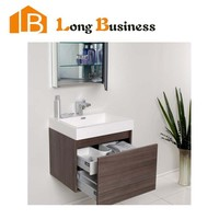 LB-JL2181 Made In China Modern Furniture Mirrored MDF Cabinet Melamine Bathroom Vanity