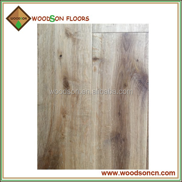 Commercial Rustic Natural Oak Engineered Wood Flooring For Bar